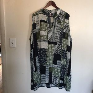 Cool Melon sleeveless print dress size 3XL Vneck